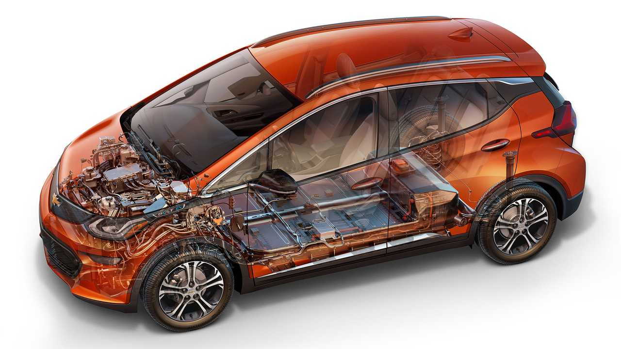 The Bolt carries a 60 kilowatt-hour pack delivering 238 miles of range.