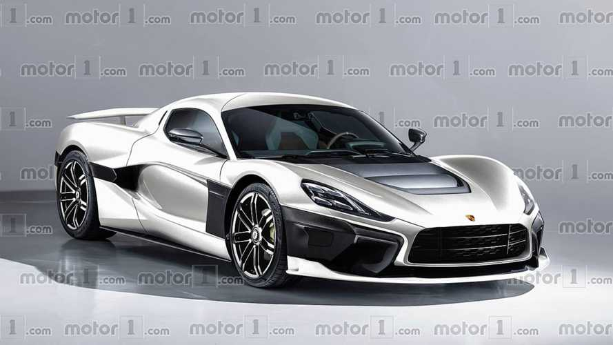 Porsche And Rimac Electric Hypercar Imagined In Rendering