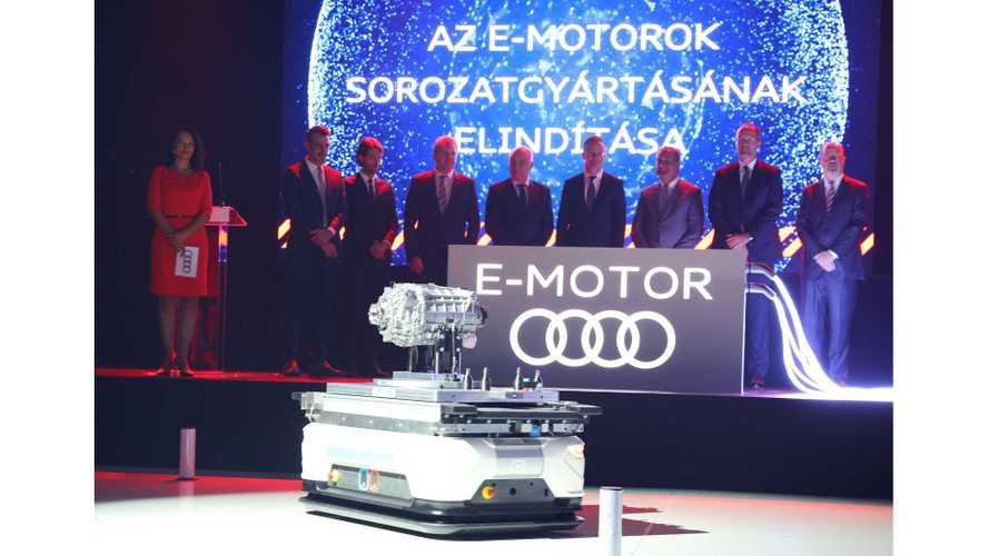 Audi Starts Production Of E-tron Electric Motors