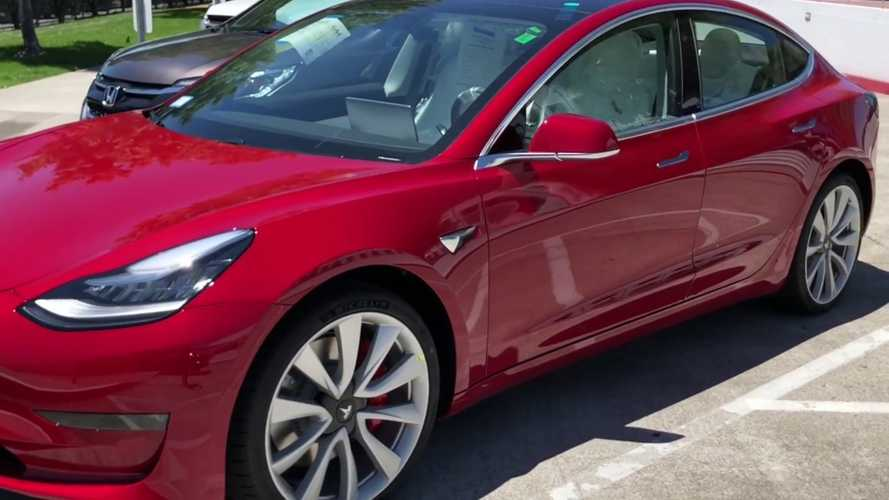 New Tesla Model 3 Performance Walkaround Video With Interior Views