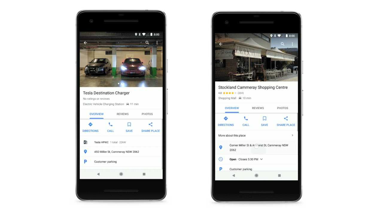 Google Maps now supports charging stations around the world