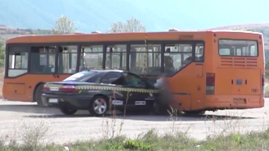 Watch World's Fastest Crash Between Car Going 129 MPH And City Bus