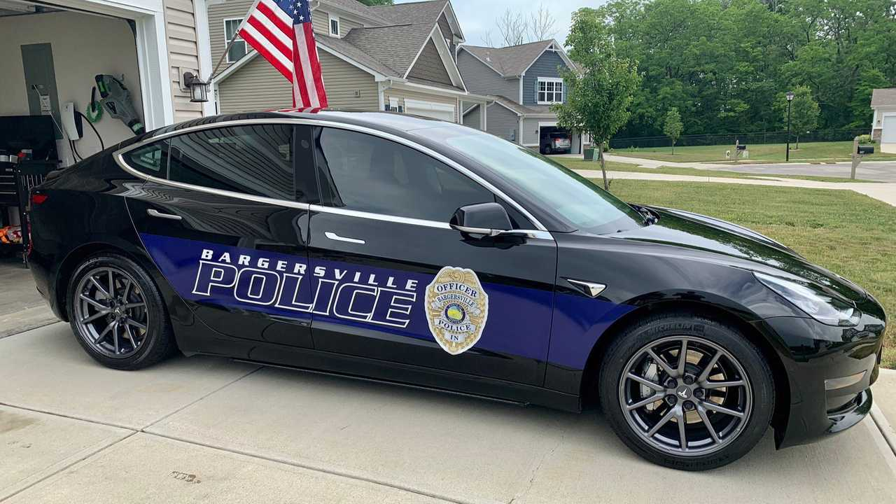 Tesla Model 3 - Bargersville Police Department (source: Todd Bertram)
