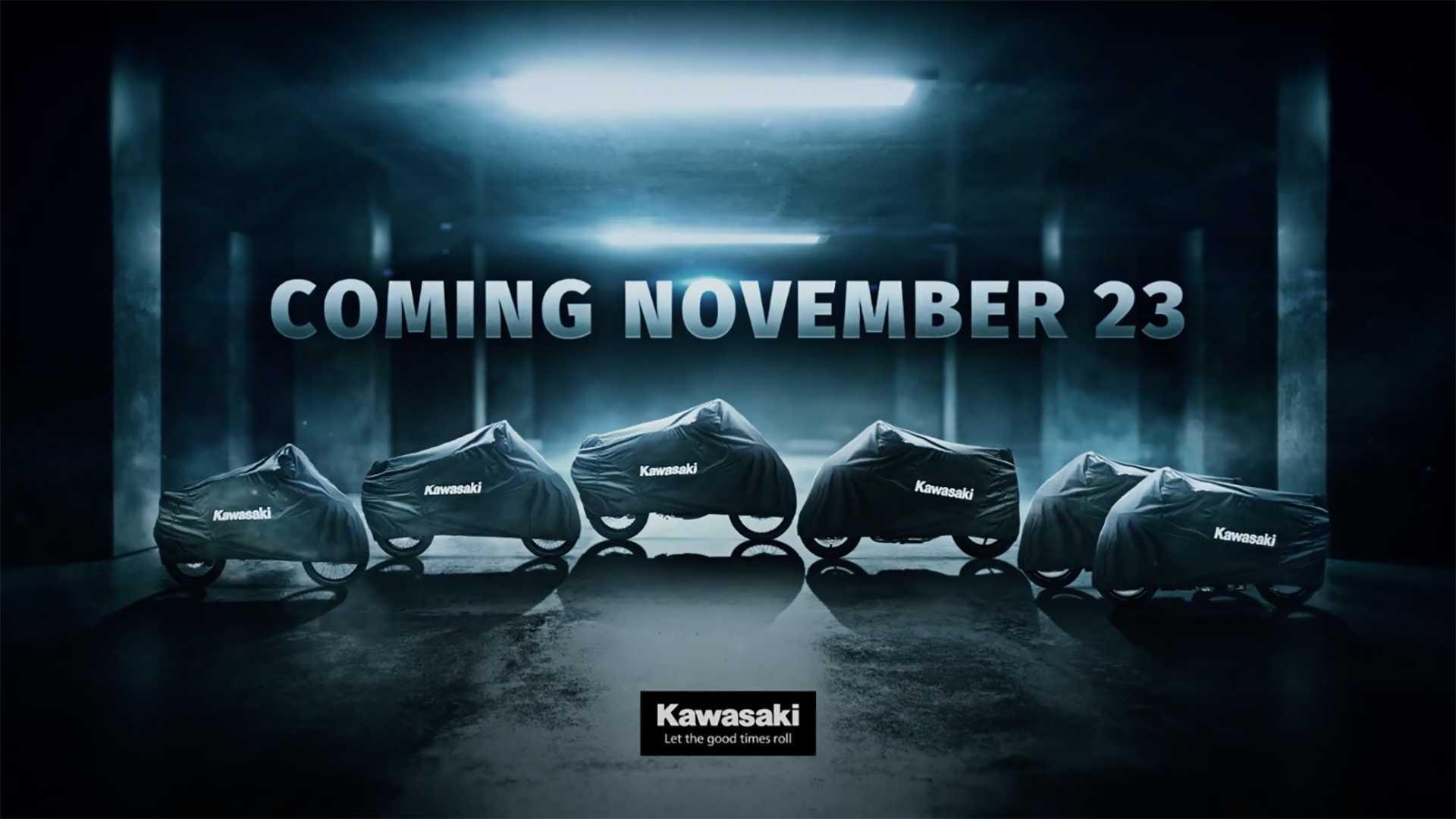 Kawasaki Teases Six New Bikes Coming In November 2020