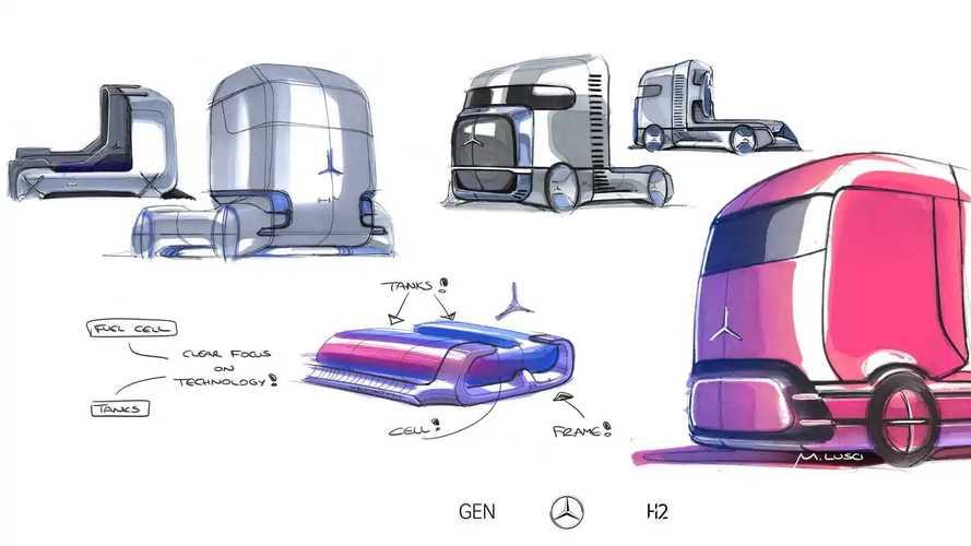 Mercedes GenH2, il fuel cell pesante della Stella
