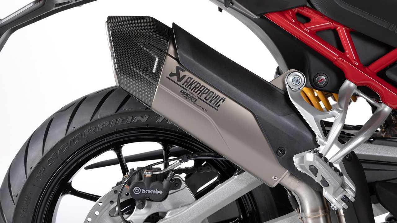 Ducati Multistrada V4 Ducati Multistrada V4 Akrapovič Racing Exhaust Closeup