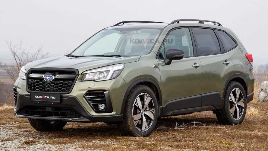 Subaru Forester 2021 restyling, recreación