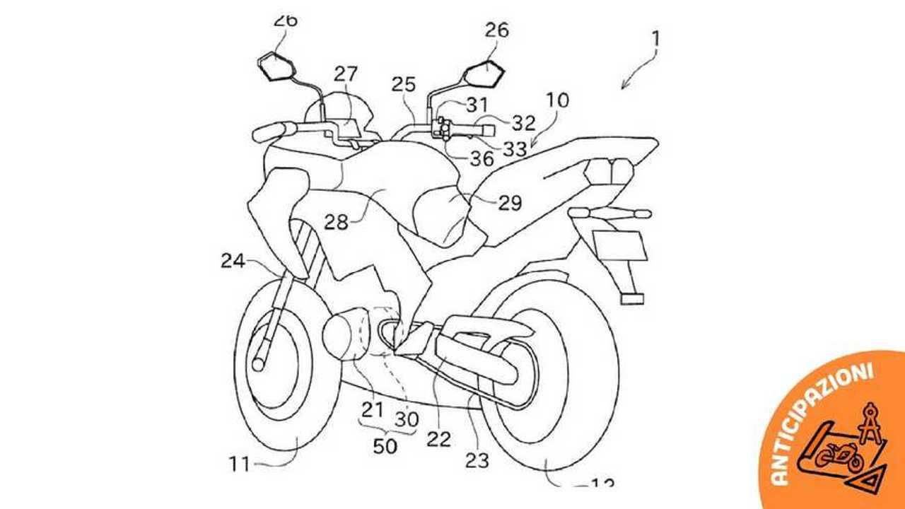 kawasaki disegni moto ibrida boost