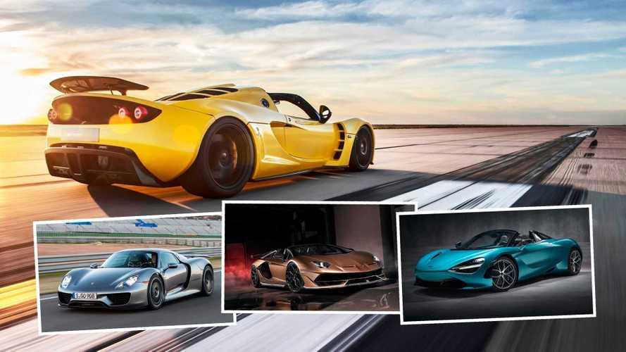 Los 7 roadsters más rápidos del mundo