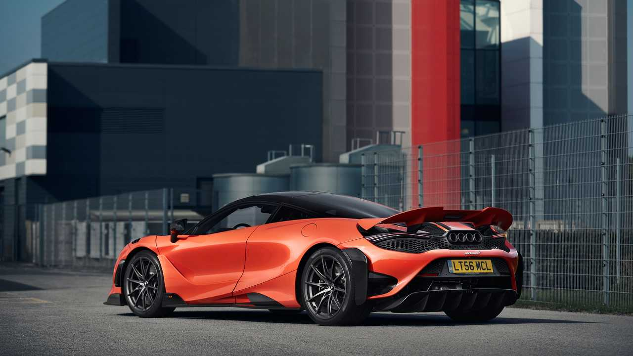 2021 McLaren 765LT rear quarter static