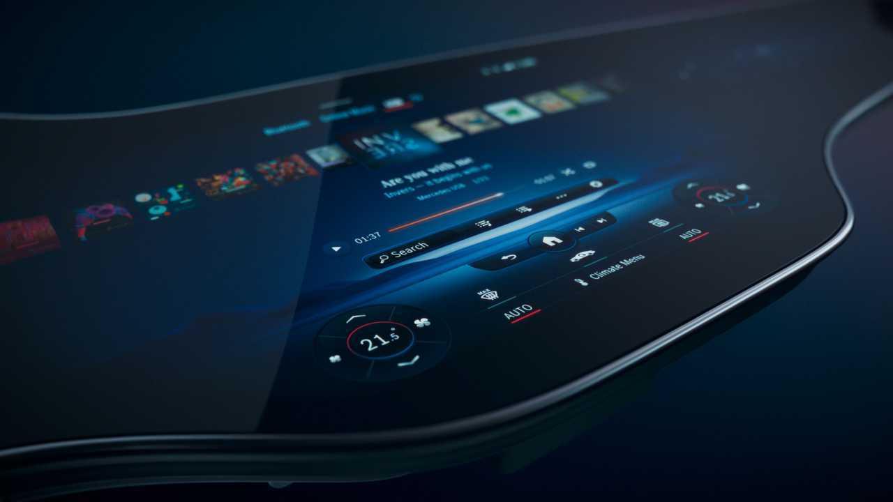 Гиперэкранный климатический дисплей Mercedes-Benz MBUX
