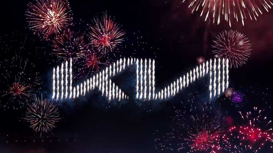 Kia unveils new logo with record-breaking fireworks show