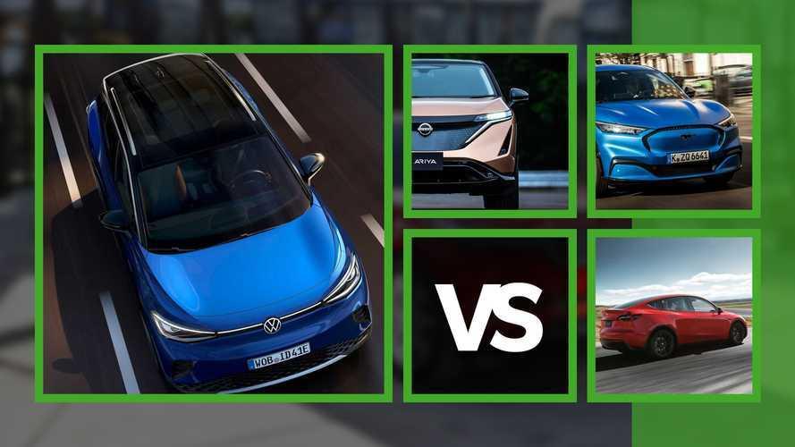 Volkswagen ID.4 sfida Tesla Model Y, Ford Mustang Mach-E e Nissan Ariya