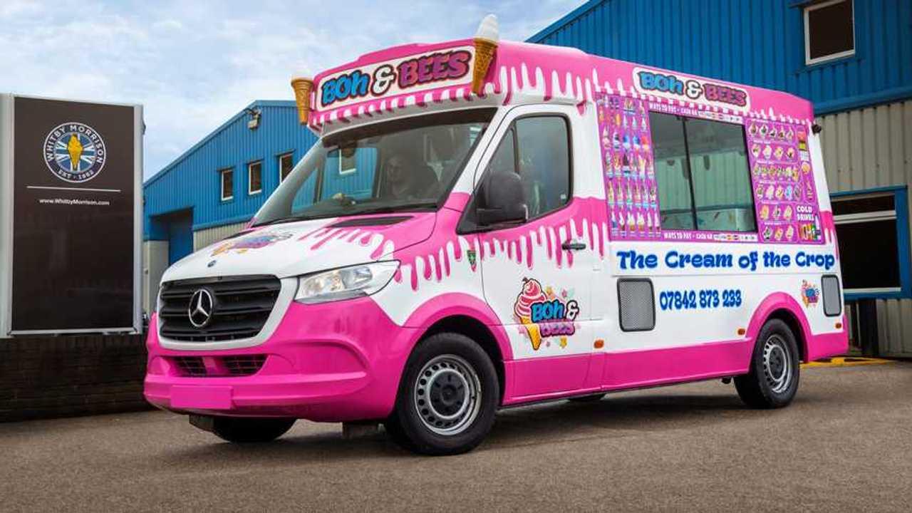 Mercedes-Benz Sprinter furgoneta de helados rosa