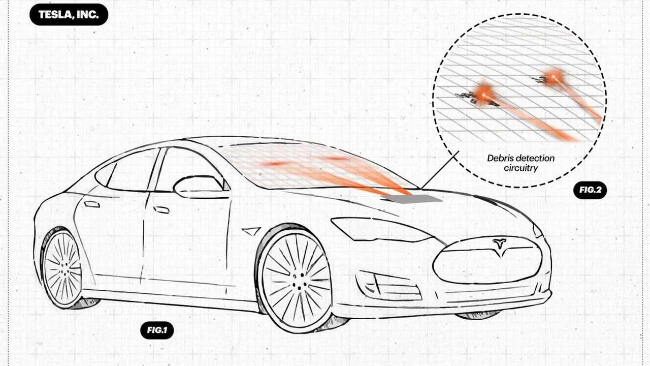 Tesla windscreen