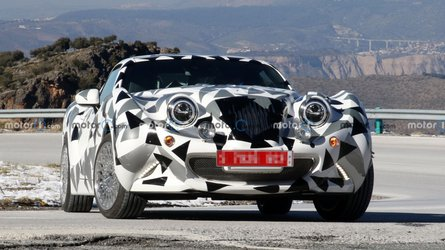 Retro-styled Hurtan sports car spied testing with Mazda power