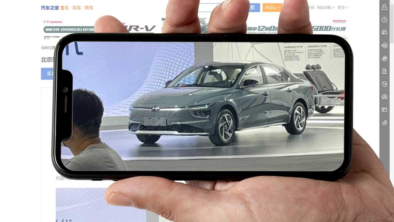 Hyundai Creates Chinese Electric Sedan With Creta Headlights