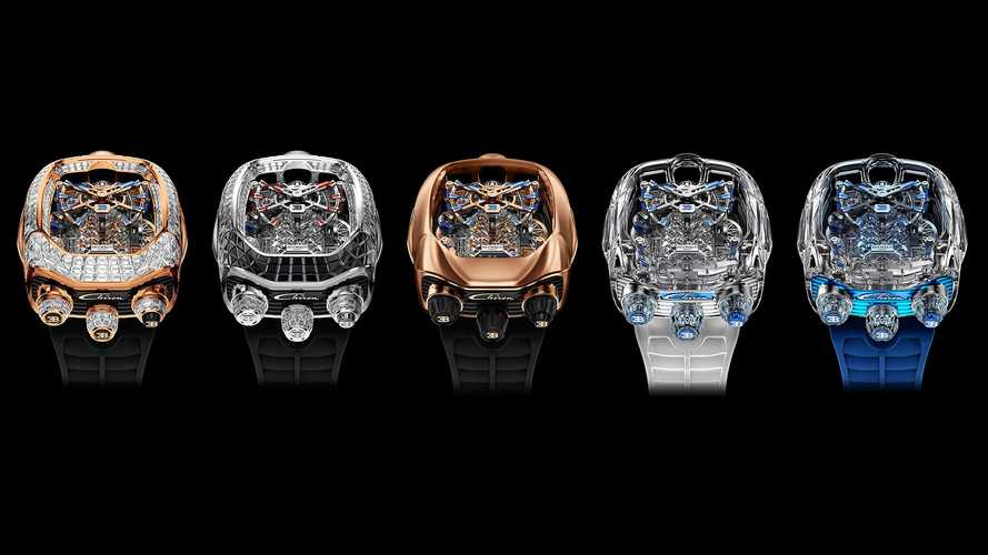 Bugatti Watch With Tiny Working W16 Engine Gets Four More Versions