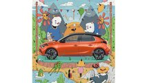 Vauxhall drafts up-and-coming illustrators to promote the Corsa-e