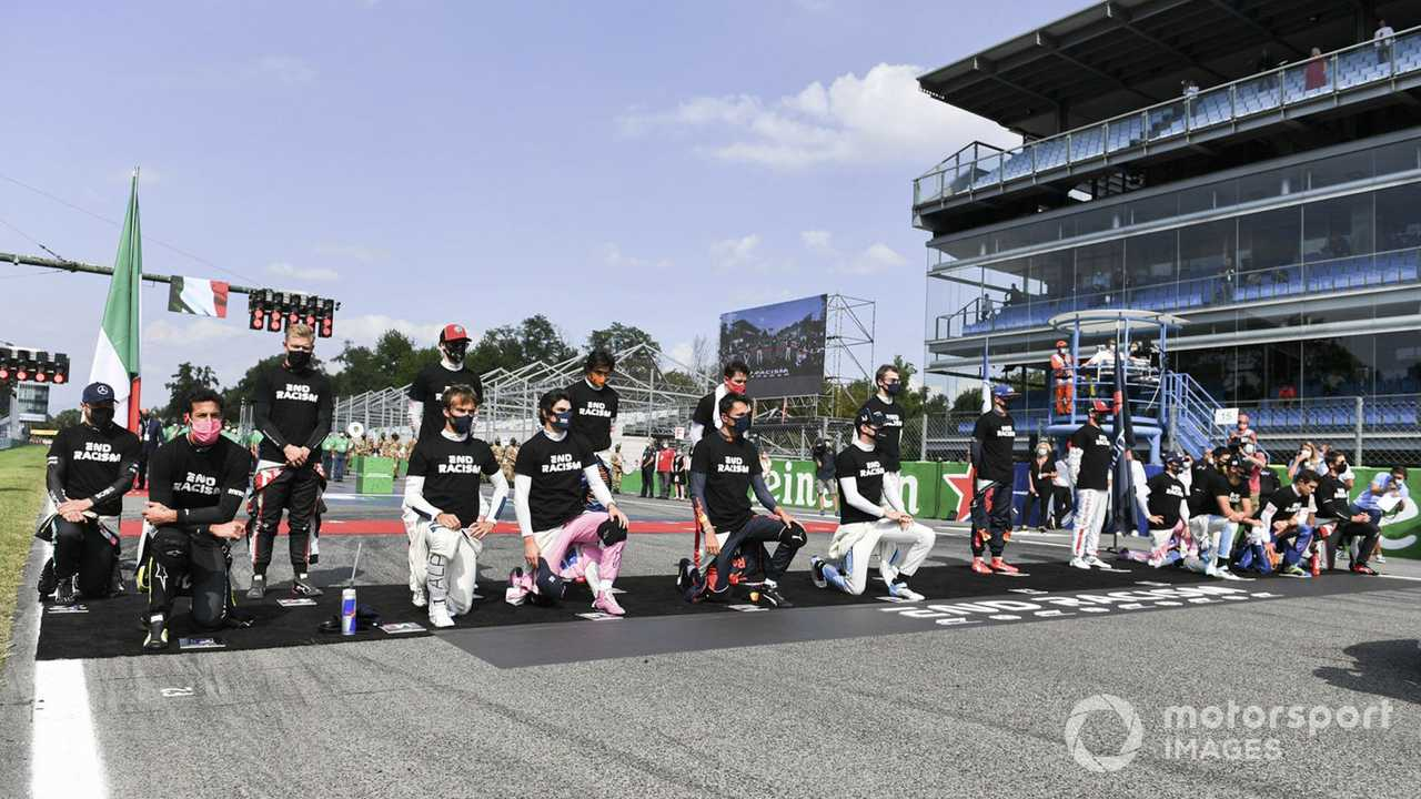 F1 drivers in support of End Racism campaign at Italian GP 2020