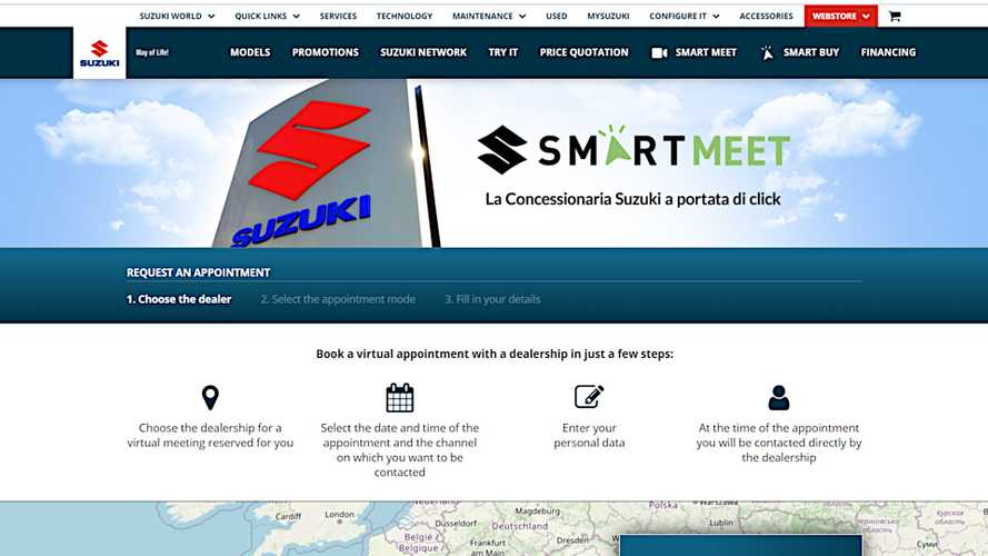 Suzuki Italy Launches SmartMeet Video Chat Appointments