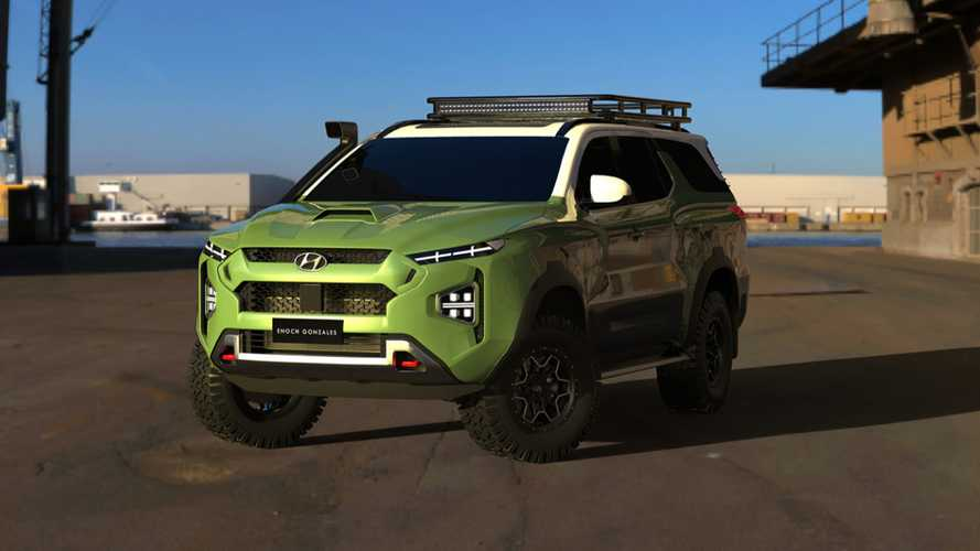 Hyundai Body-On-Frame SUV Rendered To Battle Tahoe, Land Cruiser