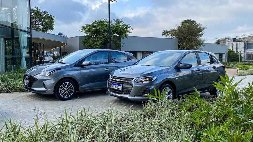 Varejo em abril: Chevrolet Onix e Hyundai HB20 disputam liderança