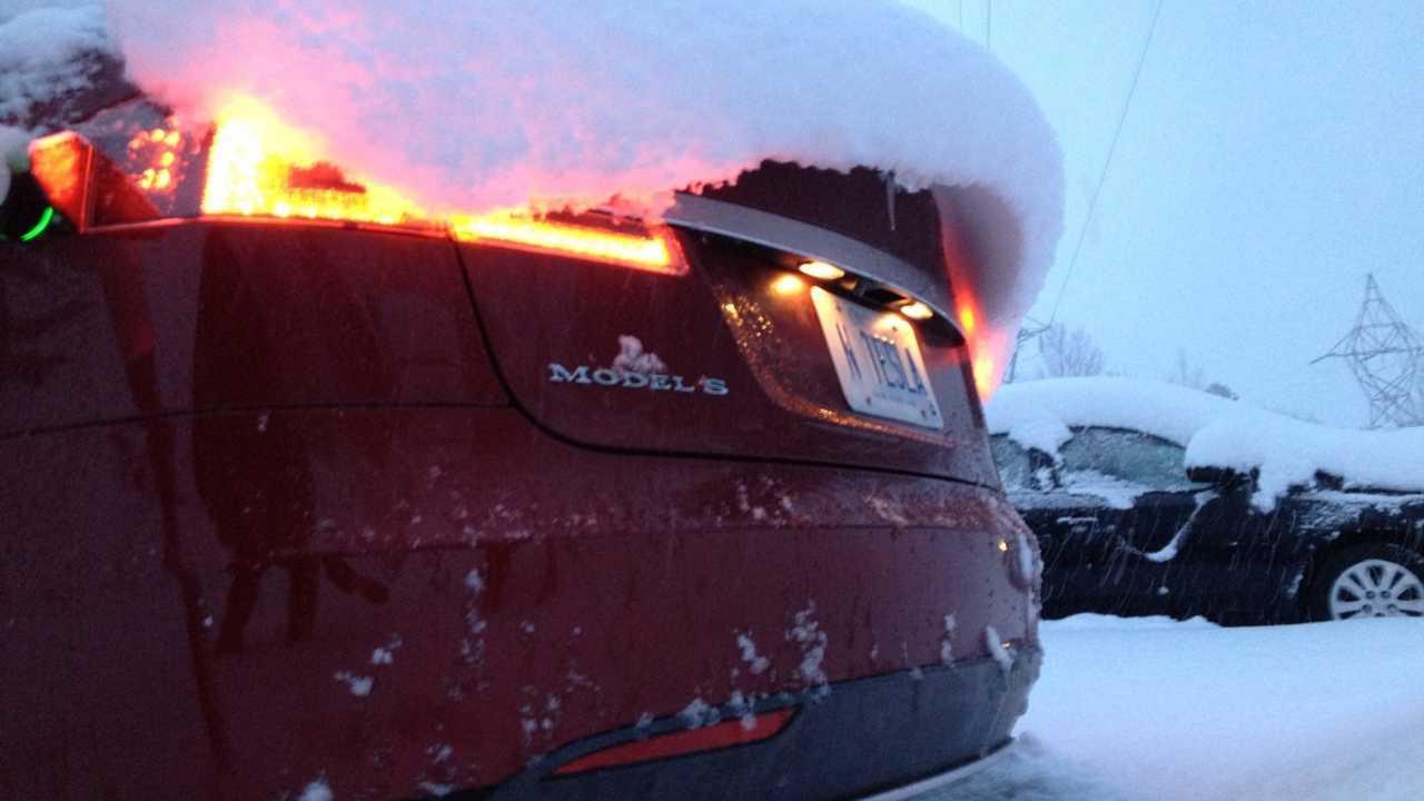 Tesla Model S vs. soğuk hava