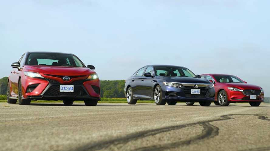 Toyota Camry TRD, Honda Accord, And Mazda6 Compete In Sedan Drag Race