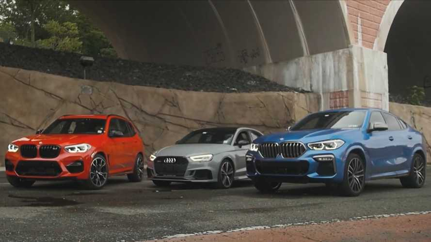 Audi RS3 Is Odd Car Out In BMW X6 M50i, X3 M Comp Drag Race