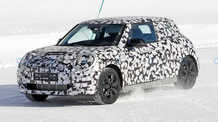 Next-gen Mini Cooper EV spied cold-weather testing