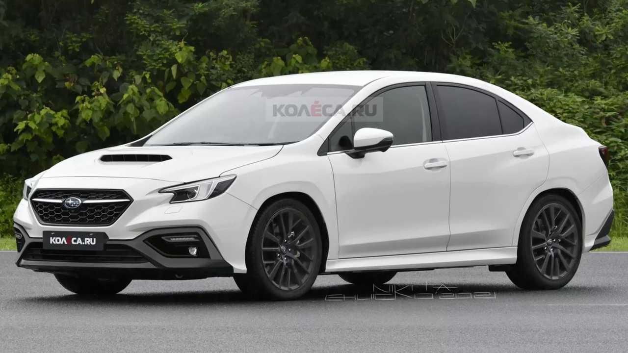 Subaru WRX rendering front three quarters