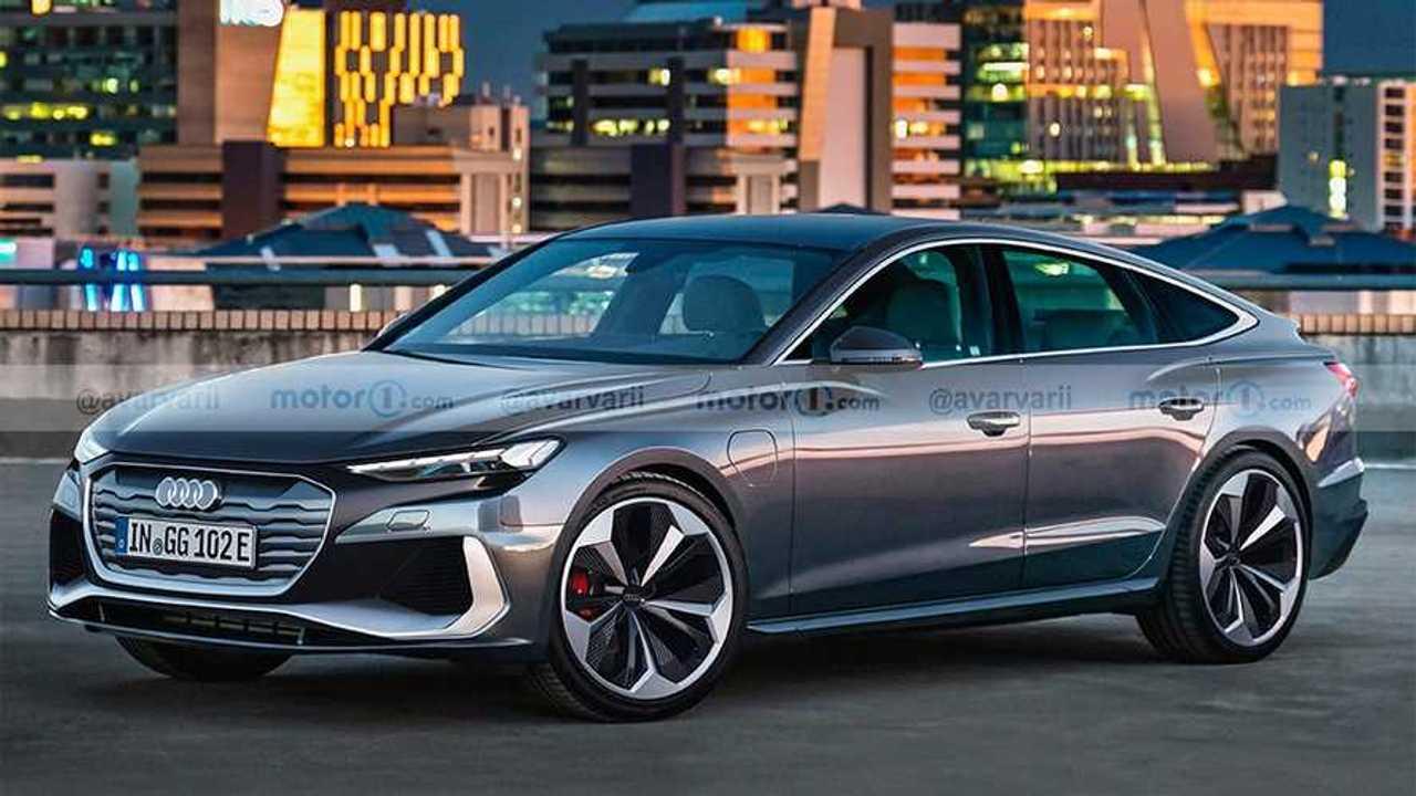 VW Project Trinity rendered as Audi sedan.