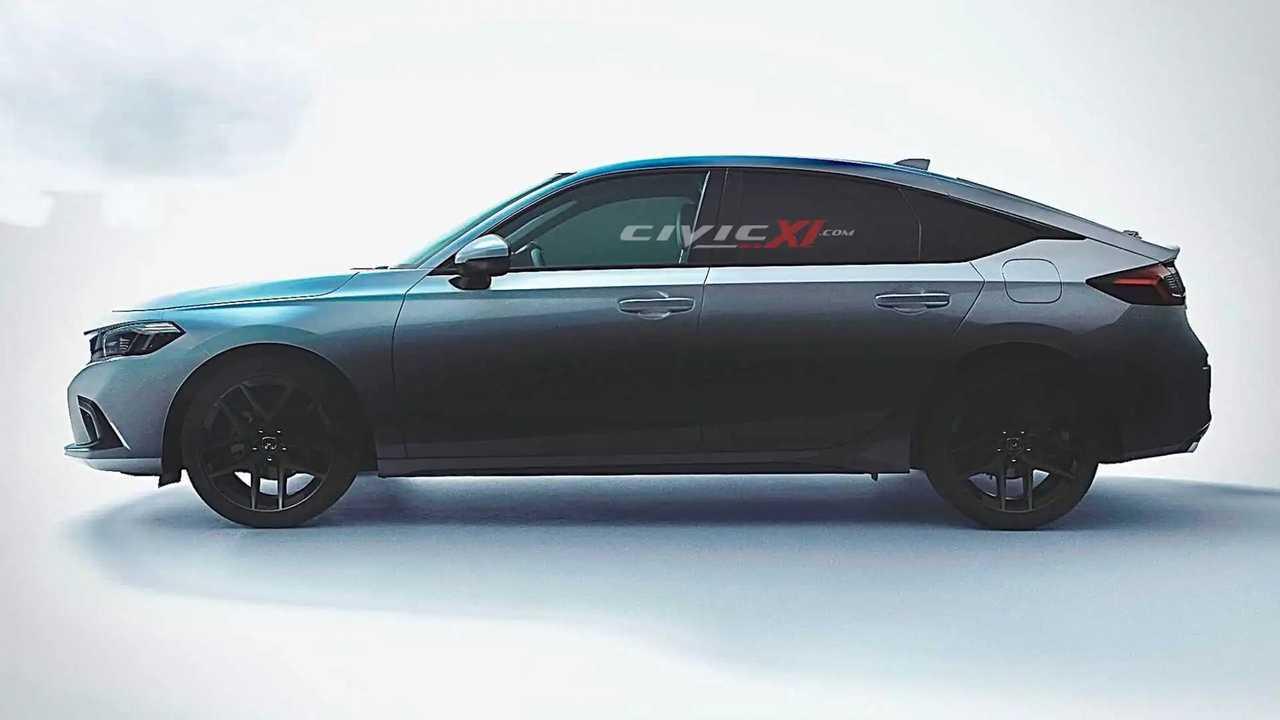 2022 Honda Civic Hatchback renderings.