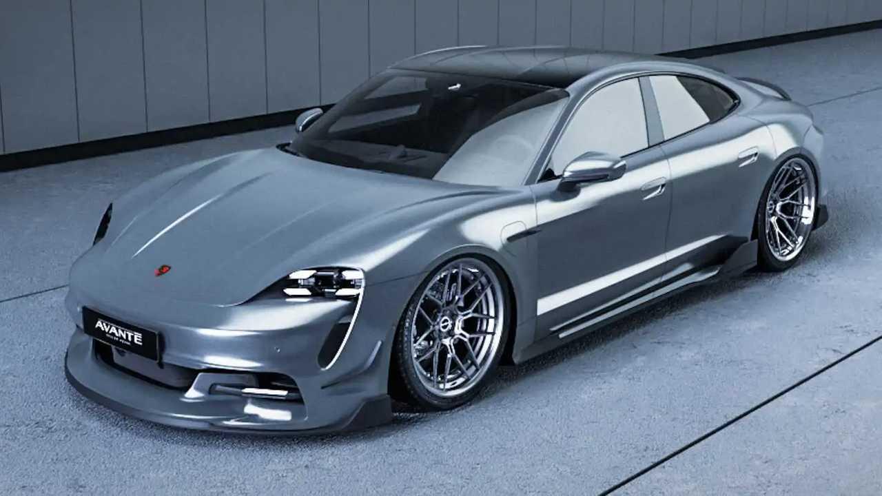 Porsche Taycan gets body kit from Avante Design.