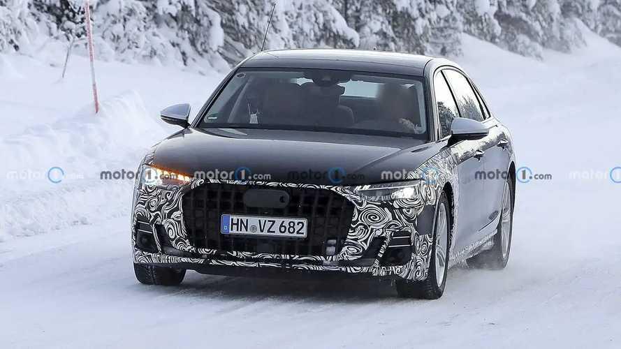 2022 Audi A8 L Horch spy photos