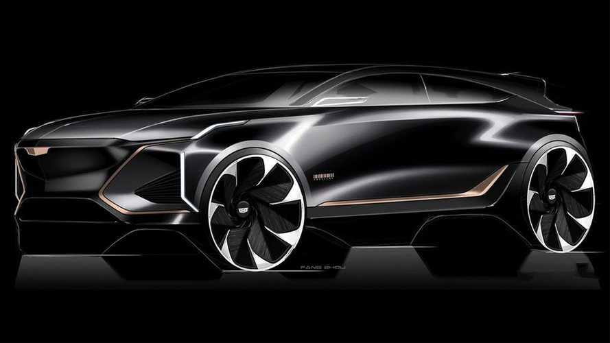 GM Design Shows Sketch Of What We Think Is An Early Cadillac Lyriq
