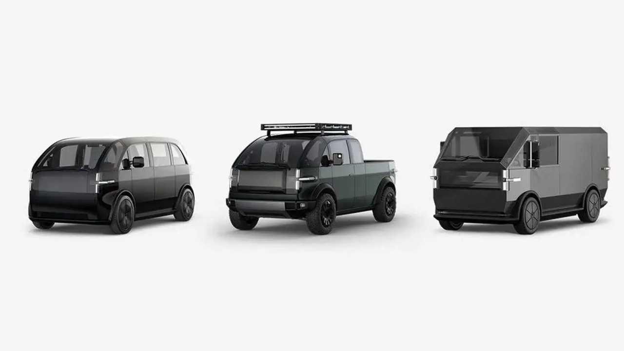 Canoo stellt drei Versionen seine Elektroautos vor