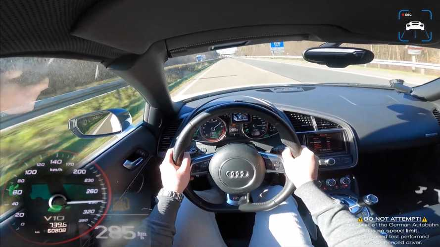 Rare Audi R8 V10 Spyder Manual Goes For Autobahn Top Speed Run