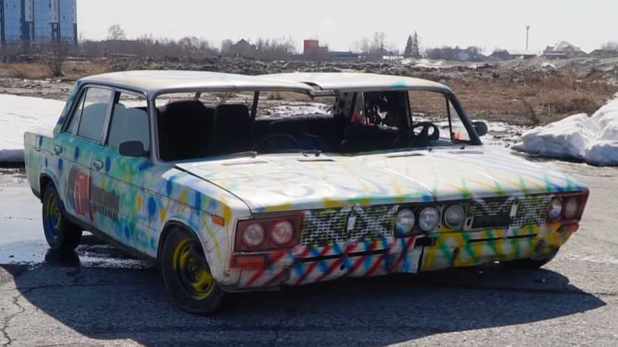 Russia's idea of a widebody conversion is welding two Ladas together