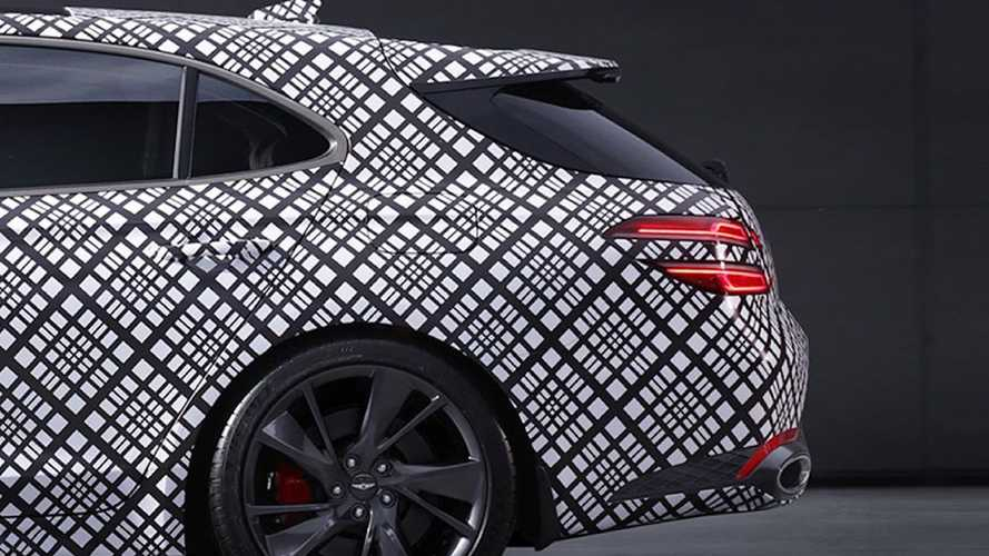 Genesis G70 estate teaser images show off elegant rear-end design