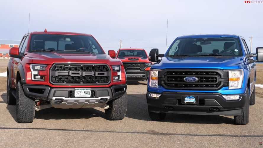 Ford F-150 Drag Race Pits Old Raptor Against New Hybrid
