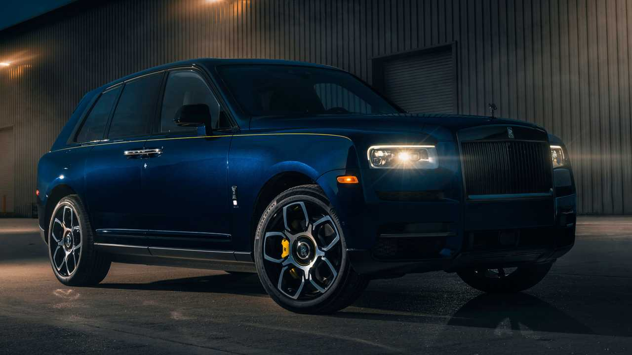 A custom Rolls-Royce Cullinan owned by Ben and Christine Sloss.