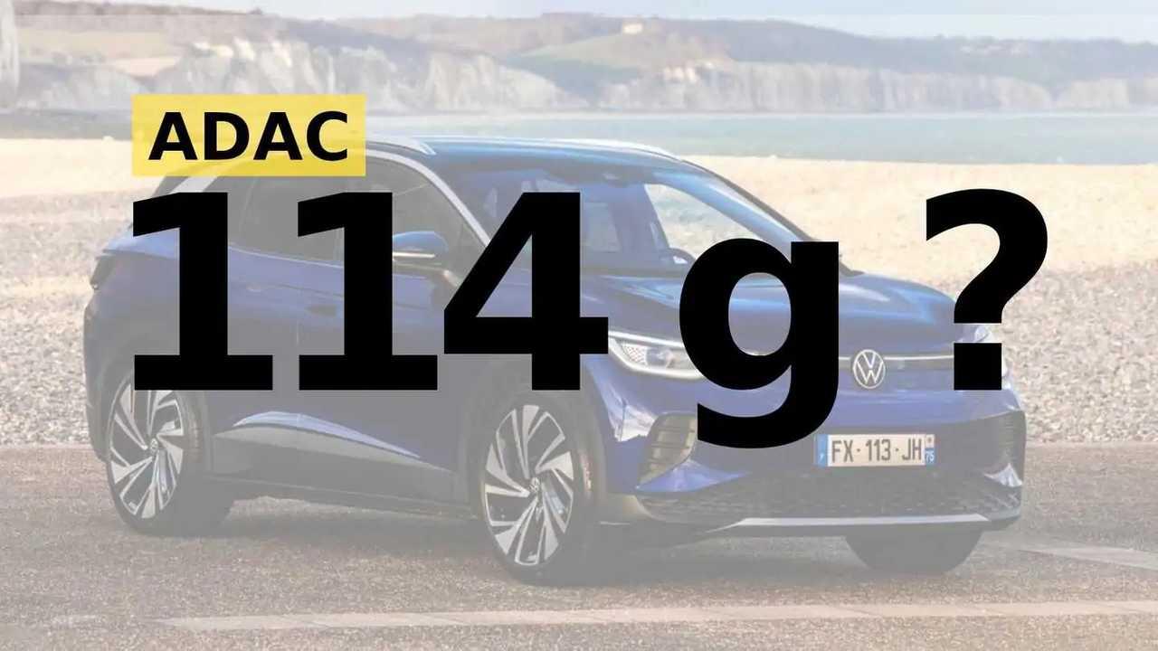 Laut ADAC-Test soll der VW ID.4 mittelbar 114 g CO2 pro km emittieren