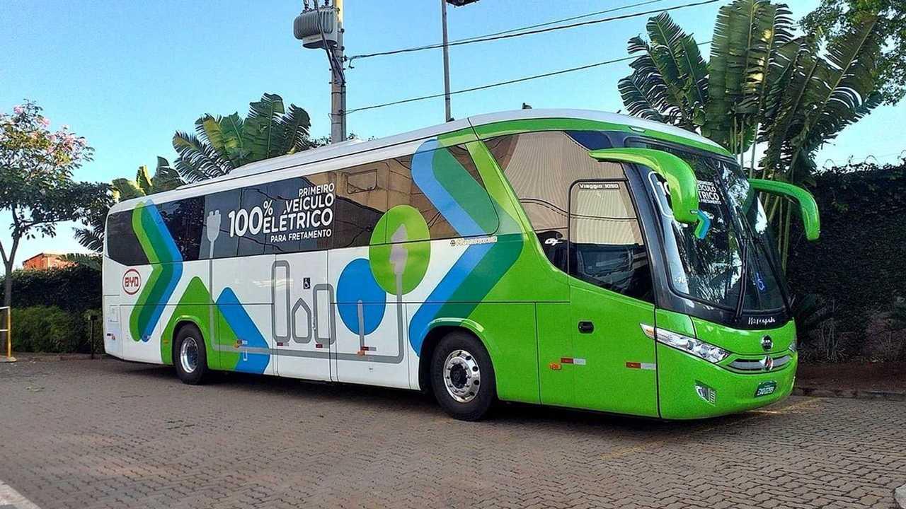 BYD onibus eletrico rodoviario