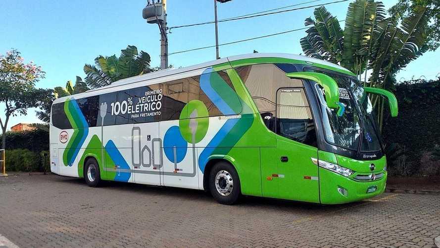 Ônibus elétrico intermunicipal inicia testes no sul do Brasil