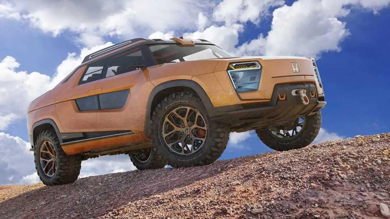Unofficial Honda Ridgeline electric renderings.