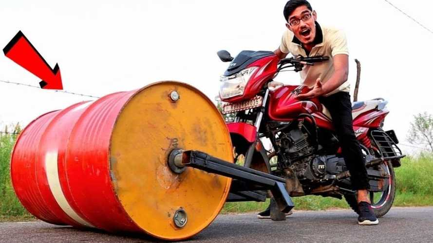 Check Out This Wild Road-Roller Motorcycle