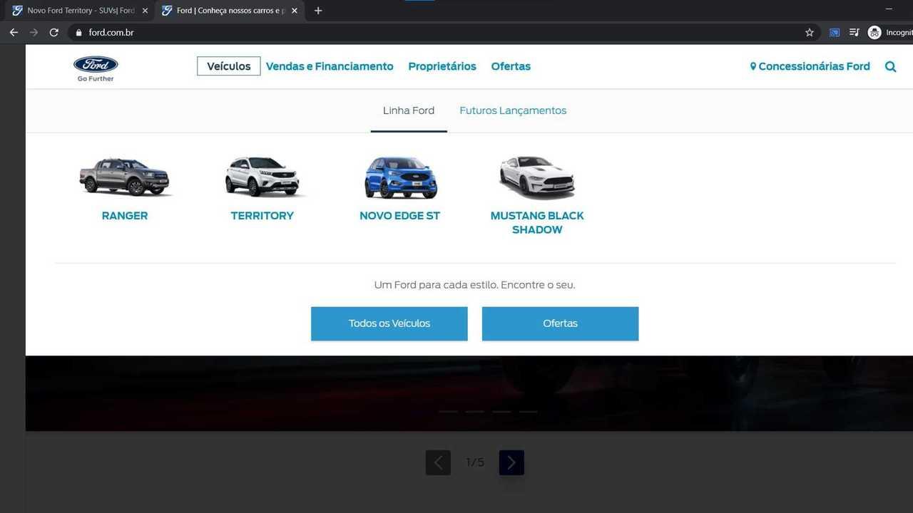 Site da Ford