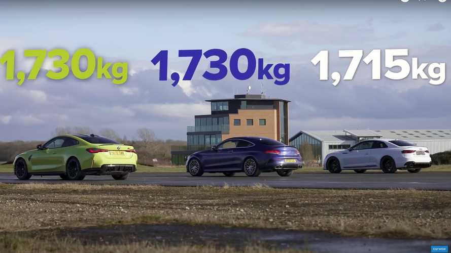 New BMW M4 drag races its closest rivals in UK